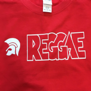 TROJAN HEAD REGGAE T-SHIRT RED